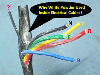 Why White Powder Used inside Electrical Cables?