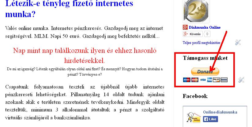 az internet befektetések nélküli munkája)