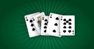 Here's your opponent's hand. They are boasting a Flush, which, while impressive, loses out to your Full House. Congrats!!!