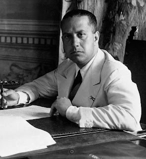 Galeazzo Ciano, pictured at his ministerial desk at the Palazzo Chigi in 1937