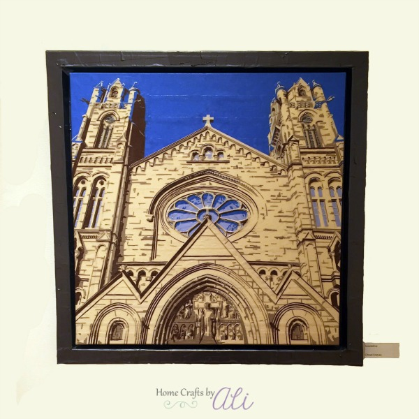Cathedral of the Madeleine in Salt Lake City Utah tape on canvas art