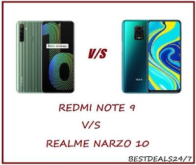 Redmi Note 9 vs Realme Narzo 10