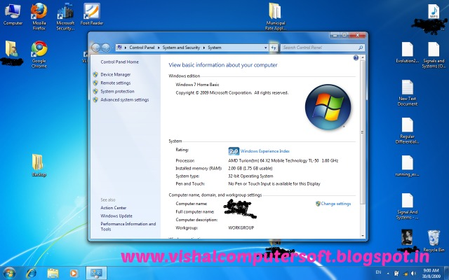 Windows 7 Home Basic Free Download 32 bit 64 Bit ISO - Vishal