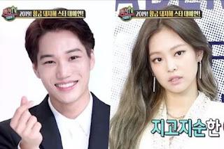 Kai EXO dan Jennie BLACKPINK. - Foto/MBC