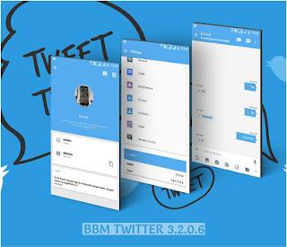 BBM Mod Twitter v3.2.0.6 Apk Terbaru