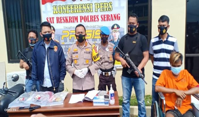 Dalam Tempo 3x24 Jam, Tim Resmob Polres Serang Berhasil Tangkap Pelaku Pembunuhan