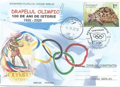 Plic aniversar Centenarul drapelului olimpic