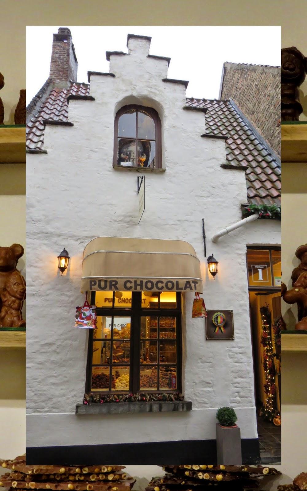 Pur Chocolat Shop in Bruges