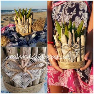 Shabby chic Vaso legno fai da te riciclo creativo