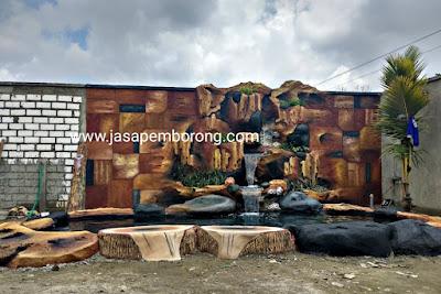 Jasa Tukang Relief Kolam Tebing Demak | Desain Pembuatan Kolam Air Terjun Dekorasi di Demak