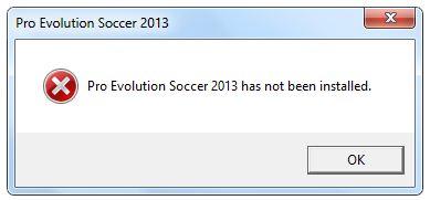 Cara Mengatasi Error Pro Evolution Soccer 2013 has not been installed