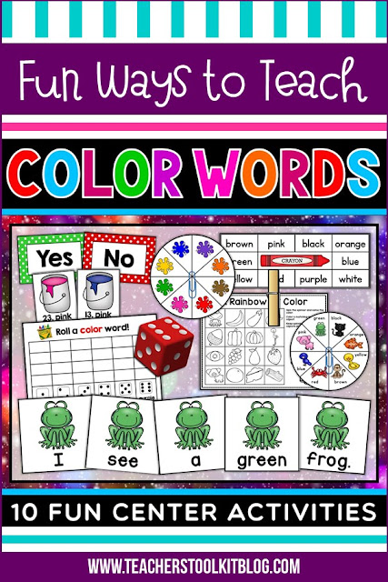 Image of color words classroom games and centers