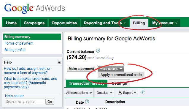 Your First Google Ads Campaign example