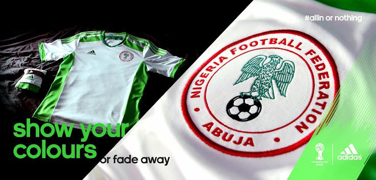 huge discount af4ba f7815 Nigeria 2014 World Cup Home and Away Kits Released - Footy ...