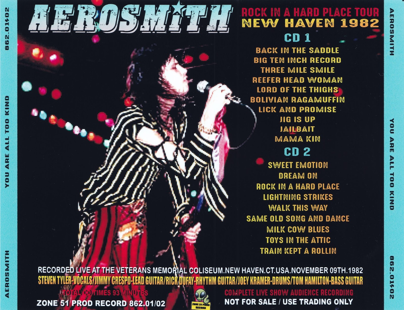 Aerosmith Bootlegs Cover Arts You Are All Too Kind New