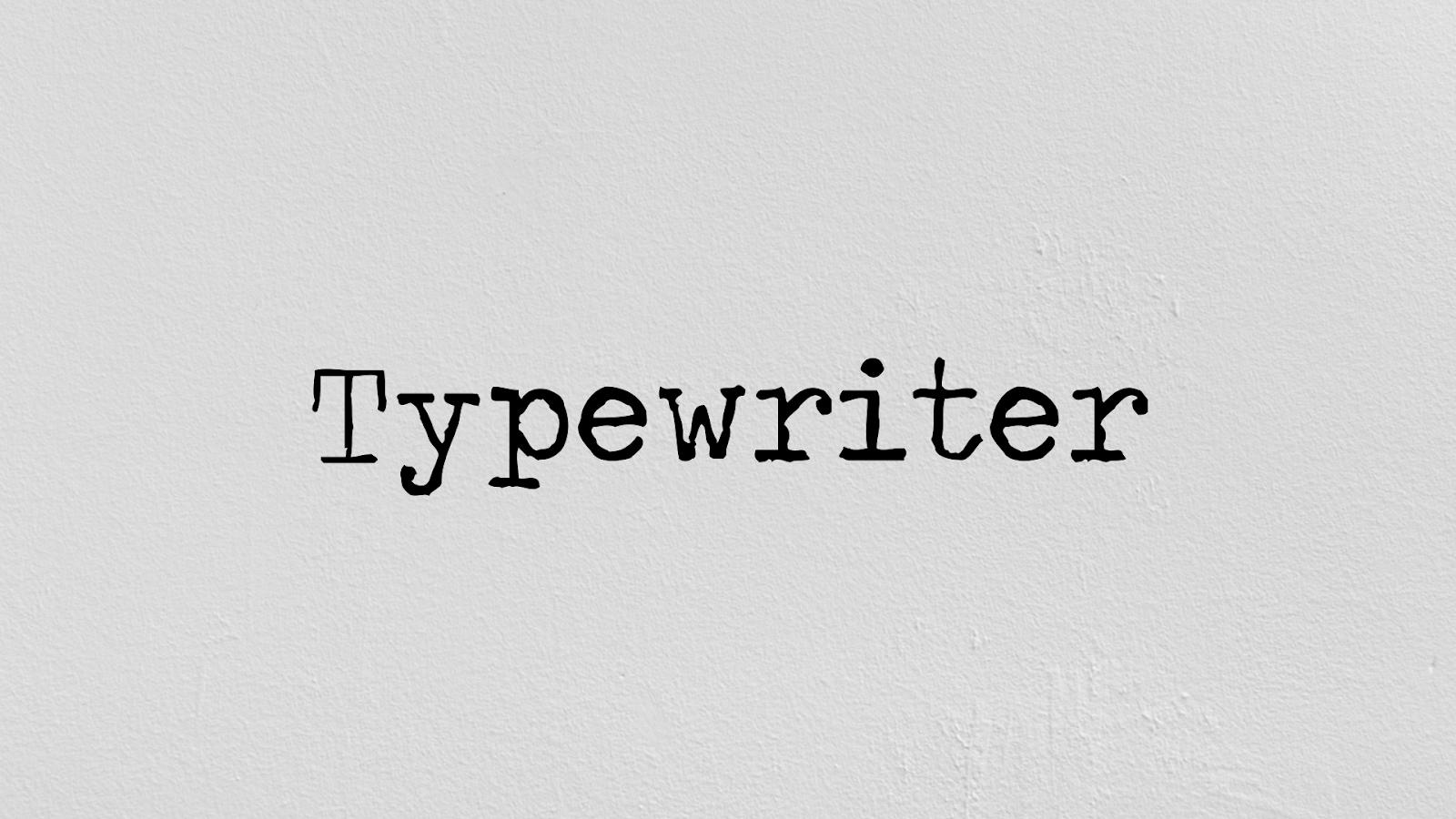 typewriting text tutorial