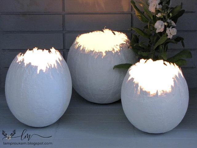 Εύκολη πασχαλινή κατασκευή μεγάλα φωτεινά αυγά.
