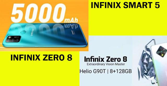 Flashsale Besok Infinix Zero 8 dan Infinix Smart 5 Di Lazada Processor Helio G90T Untuk Gamers Ram 8GB Rom 128GB Camera 48MP Baterai 4500mAh