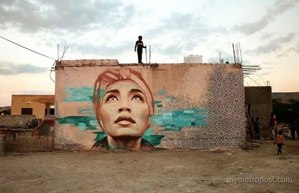 Wajah Yuna hiasi dinding di Jordan