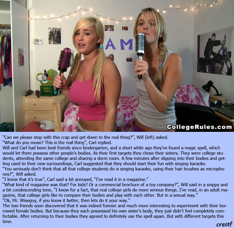 Crestf Tg Captions What College Girls Do-8085