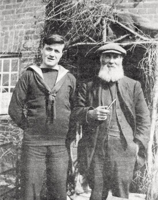 Grandfather Stuckey and Grandson c1916