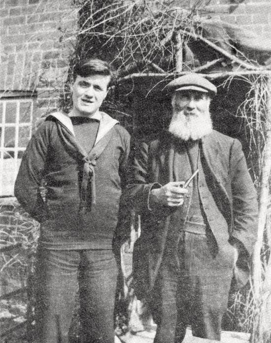 Grandfather Stuckey and Grandson c1916