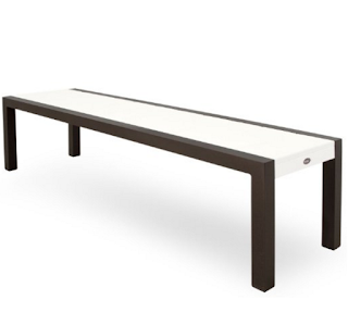 Trex TX3810-16CW Surf City Bench 68-Inch Textured Bronze Classic White