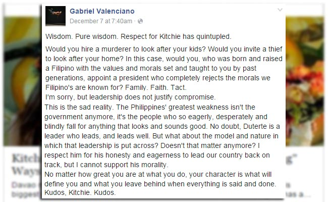 Gab Valenciano on His Controversial Post: Would You Hire a Murderer to Take Care of your Kids?