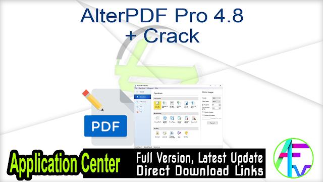 AlterPDF Pro 4.8 + Crack