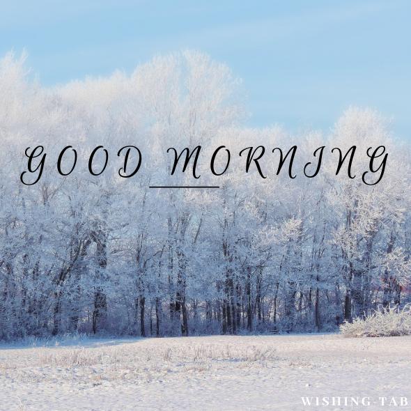 good morning winter season images