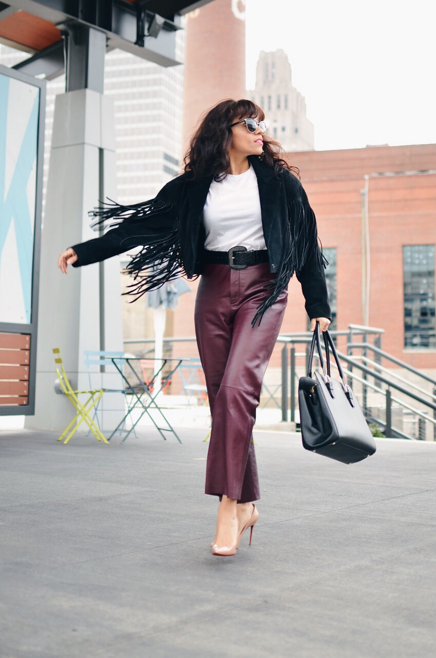 All leather street style