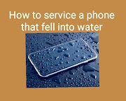 How to service a phone that fell into water