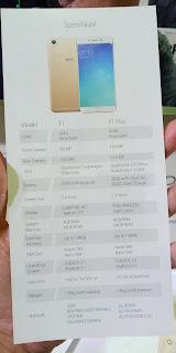 Tabel Spesifikasi Oppo F1 dan Oppo F1 Plus