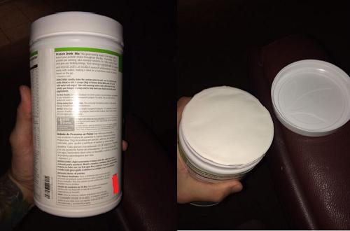 ảnh thực tế sữa giảm cân herbalife f1