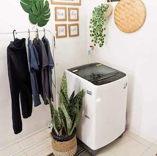 Desain interior rumah type 36 area mencuci