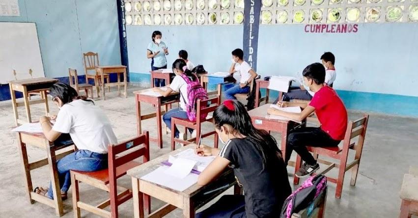Cerca de 5 mil escolares de Loreto iniciaron clases semipresenciales