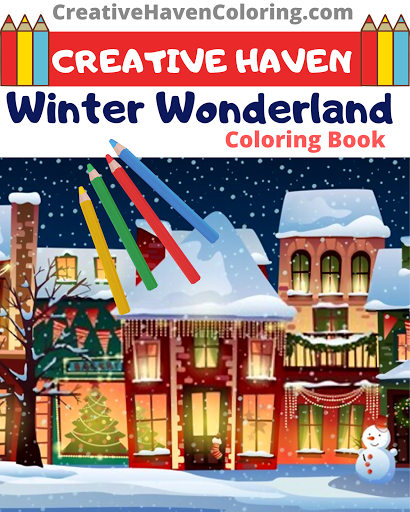 Kostenlose Snowy Winter Scene Coloring – Coloring & Drawing ... | 512x410