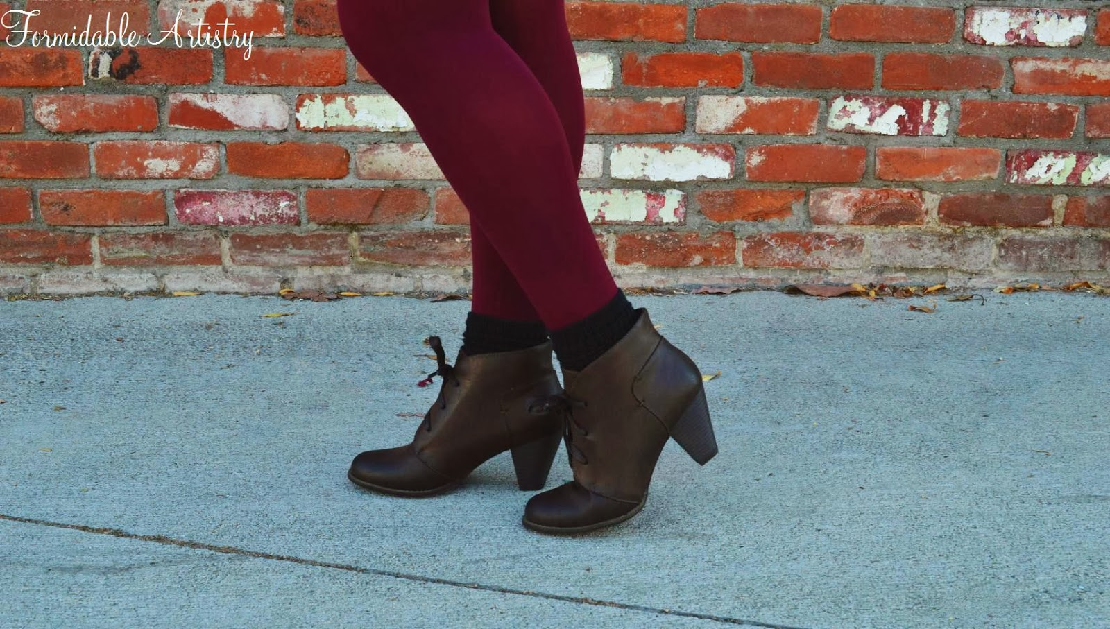 Formidableartistry Fall Fashion Wear Burgundy Tights 6 Ways