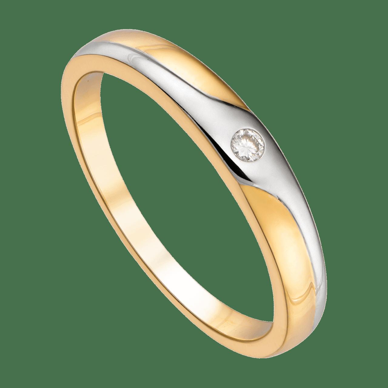 Nhẫn cưới Kim cương Vàng 18K PNJ Chung Đôi DD00C000002