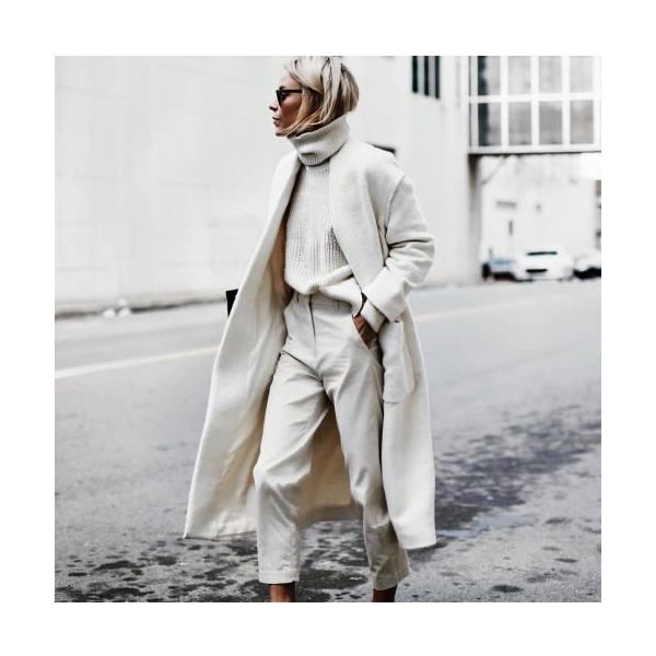 10 inspirations to wear white in winter