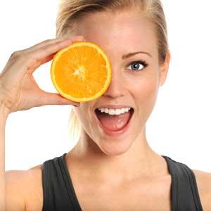 orange for eyes