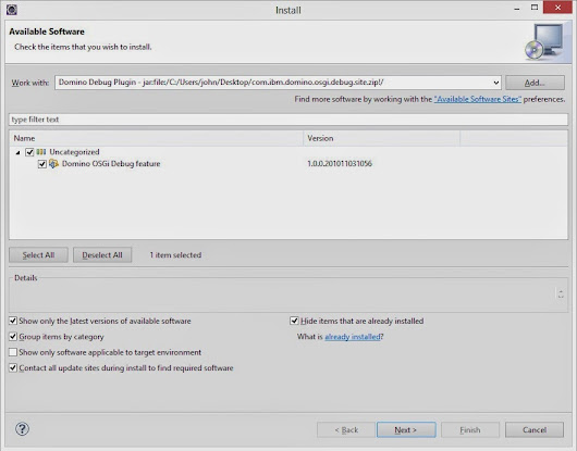 Configuring Eclipse for XPages OSGI Plugins - Part 1