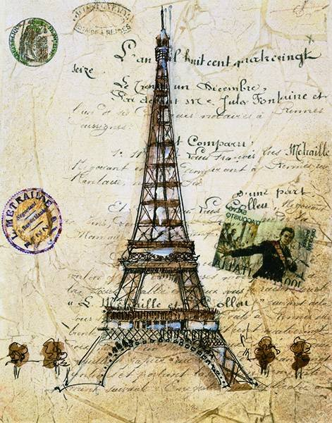paris-temalı-dekupaj-resimleri