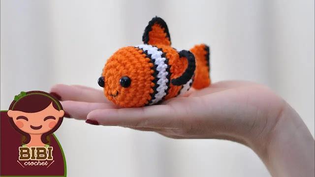 Tutorial Nemo Amigurumi (Buscando a Nemo) a Ganchillo Paso a Paso