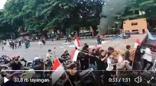 Diserbu Warga, Penolak HRS di Makassar Langsung Lari Terbirit-birit