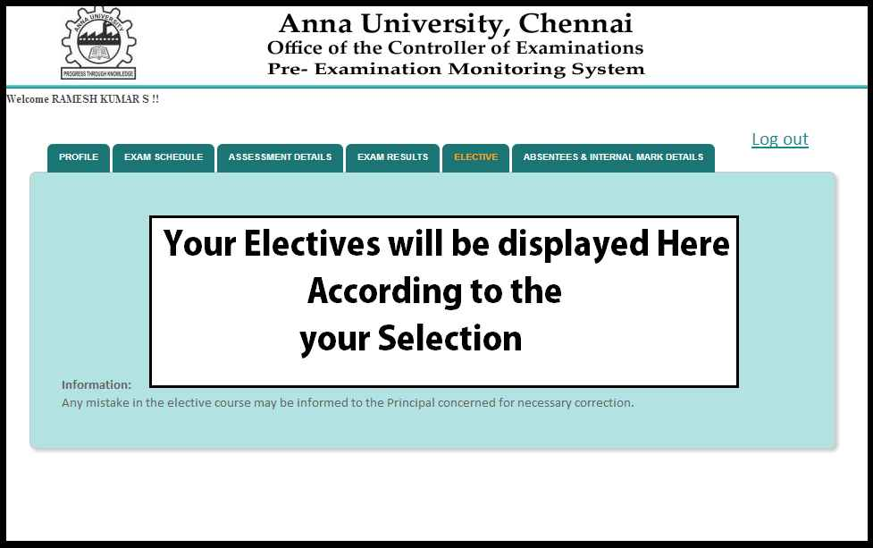 Elective tab from 6th semester onwards - coe1.annauniv.edu
