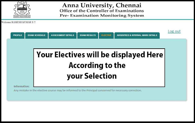 Elective tab from 6th semester onwards - coe1.annauniv.edu