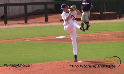 The progression featured on the ProPitchingInstitute.com web site mirrors this final scenario. You end front leg lift with your weight (the marble) in the same position as it was before your front foot left the ground and, by throwing through your target, gravity brings your throwing hand through a very productive and extremely sustainable release window.