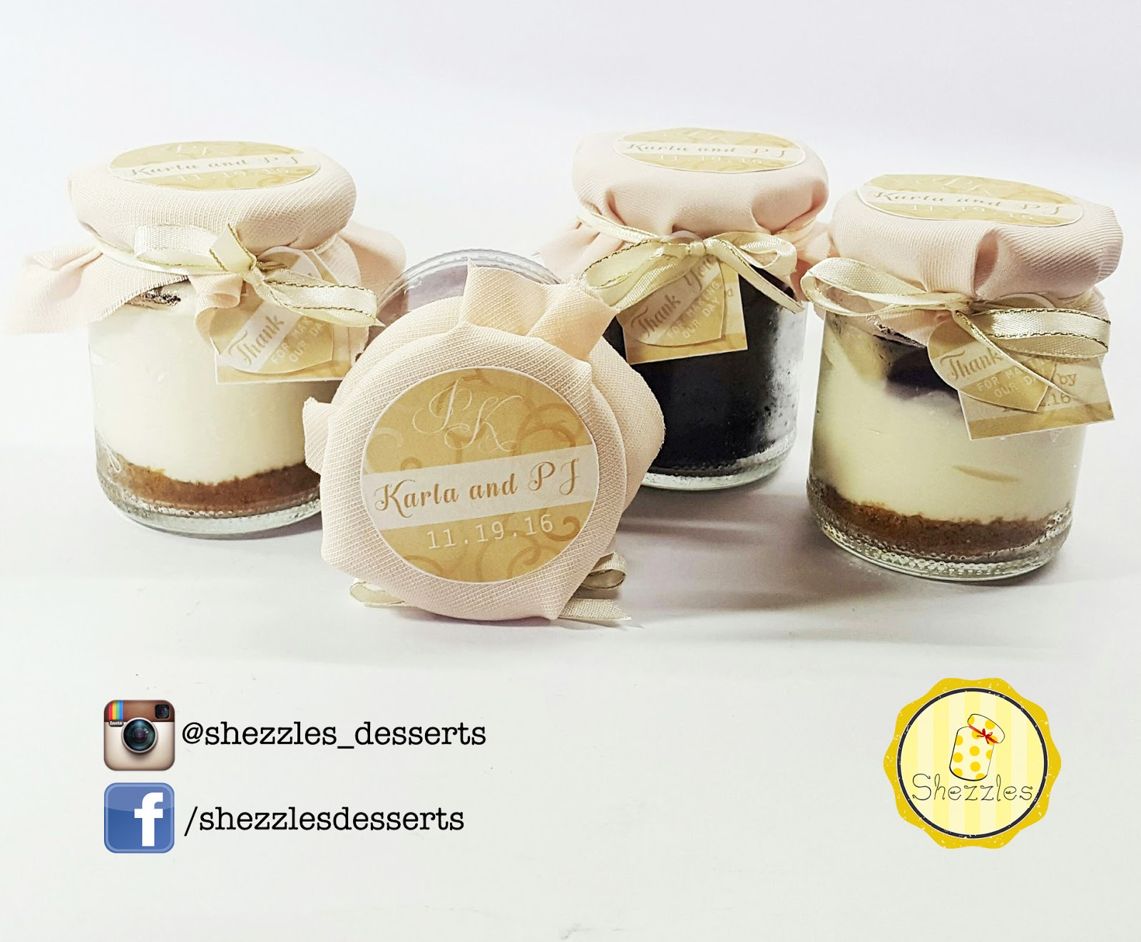 Shezzles | Dessert in a jar: PJ and Karla Wedding Giveaways | 11.19.16