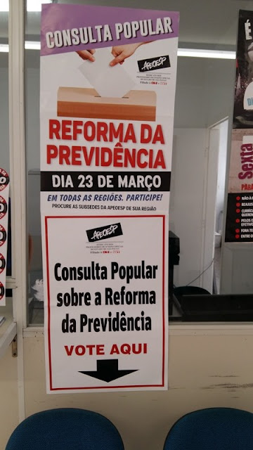 APEOESP Vale do Ribeira realiza consulta popular sobre Reforma da Previdência